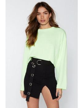 Do Slit Down Mini Skirt by Nasty Gal