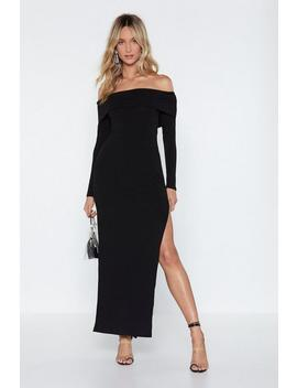 Bardot Ribbed Maxi Dress by Nasty Gal