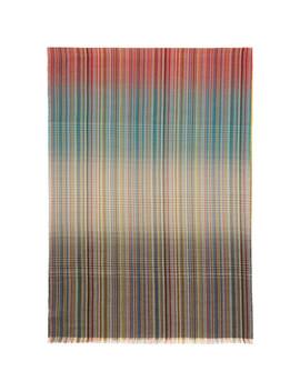 Multicolor Graded Multistripe Scarf by Paul Smith