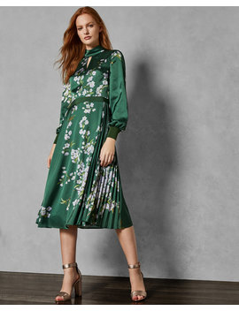 Graceful Satin Midi Dress by Ted Baker