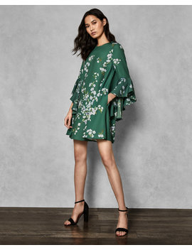 Graceful Waterfall Sleeve Dress by Ted Baker
