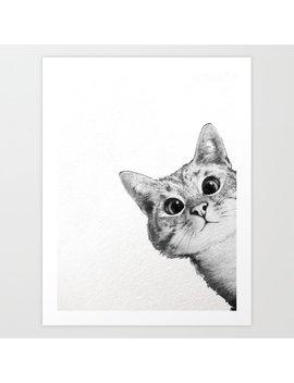 Sneaky Cat Art Print by