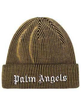 Logo Embroidered Beanie by Palm Angels