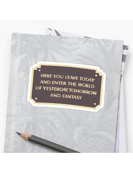Dl Entrance Plaque by Disney Designz