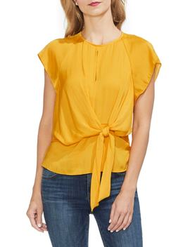 Tie Front Keyhole Top by Vince Camuto