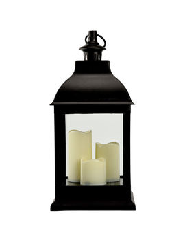 9 X20 In. Led Lantern Black by At Home
