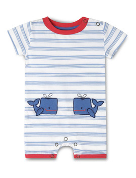 Ollie Short Sleeve Romper With Novelty Pockets by Jack & Milly