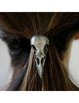 New 1 Pc Women Hot Fashion Punk Gothic Raven Skull Elastic Hair Rope Halloween Hair Accessories by Lnrrabc