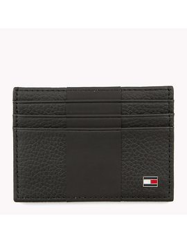 Tommy Tape Leather Card Holder by Tommy Hilfiger