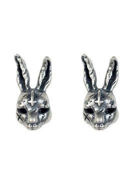 Regalrock Cute Gothic Cross Hare Rabbits Bunny Animal Jewelry Ear Vintage Stud Earring by Regalrock
