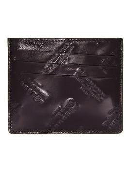 Black All Over Logo Card Holder by Maison Margiela
