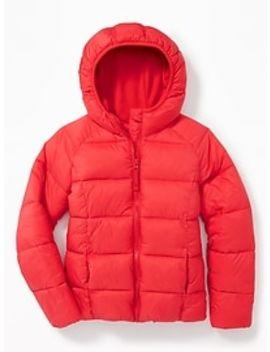 Wind Resistant Frost Free Puffer Jacket For Girls by Old Navy