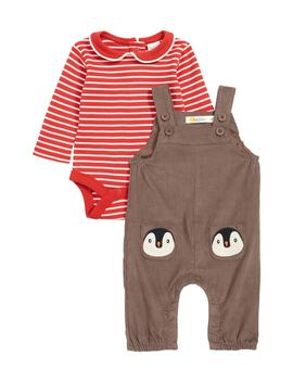 Pocket Pet Corduroy Overalls & Bodysuit Set by Mini Boden
