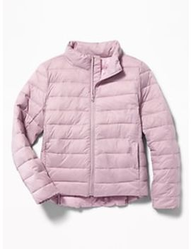 Packable Lightweight Quilted Nylon Jacket For Girls by Old Navy