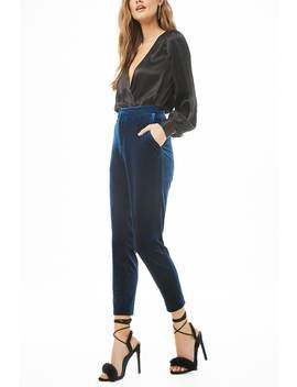 Velvet Ankle Trousers by Forever 21