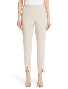 Fine Stretch Twill Pants by St. John Collection
