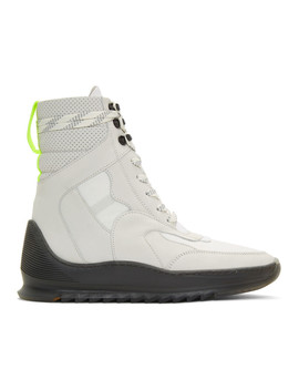 White Hoth High Top Sneakers by Filling Pieces