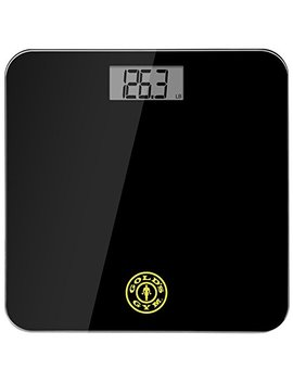 Gold's Gym Digital Tempered Glass Bathroom Body Weight Scale Highly Accurate Lbs Or Kg, Up To 400 Pounds Non Slip, Portable, Black by Golds Gym
