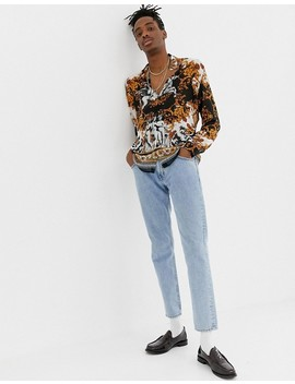 Jaded London Long Sleeve Shirt In Baroque Print by Jaded London