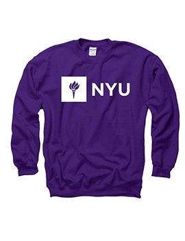 Campus Colors Nyu Violets Adult Just Logo Crewneck Sweatshirt   Purple, by Campus Colors