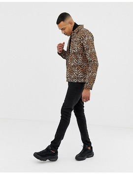 Asos Design Tall Leopard Print Denim Jacket by Asos Design