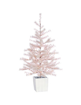 D1 4ft Pre Lit Gracie Pink Christmas Tree by At Home