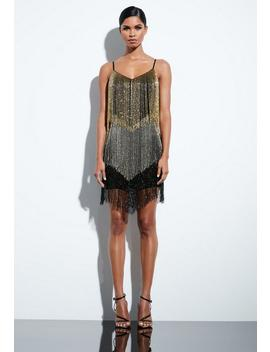 Peace + Love Black Beaded Fringe Mini Dress by Missguided