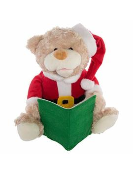 Simply Genius Talking Teddy Bear Toy Animated Plush Stuffed Animal Christmas Kid Holiday Décor by Simply Genius