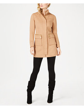 I.N.C. Petite Stand Collar Knit Coat, Created For Macy's by Inc International Concepts