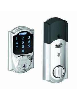 Schlage Be469 Nx Cam 625 Connect Camelot Touchscreen Deadbolt With Built In Alarm, Works With Alexa Via Smart Things, Wink Or Iris, Bright Chrome, Be469 Cam 625 by Schlage Lock Company