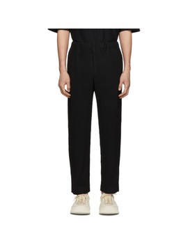 Black Tailored Pleats Trousers by Homme PlissÉ Issey Miyake