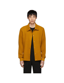 Yellow Pleated Shirt by Homme PlissÉ Issey Miyake