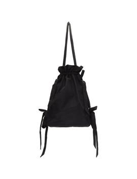 Black Bow Drawstring Bag by Simone Rocha