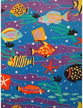 Vintage Tropical Fish Queen Flat And Fitted Sheets by Etsy