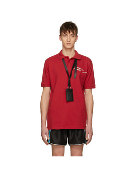 Red Perspective Logo Polo by Ribeyron