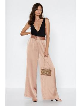 Smooth Things Over Satin Pants by Nasty Gal
