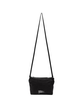 Black Coated Messenger Bag by Julius