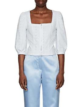 Cotton Eyelet Bustier Top by Barneys New York