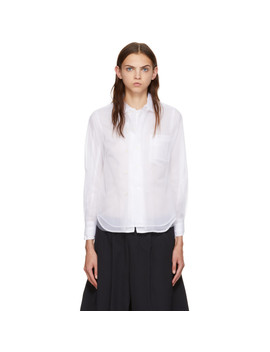 White Tulle Double Layer Shirt by Comme Des GarÇons
