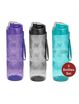 Sports Water Bottle 3 Pack  35 Oz Large Water Bottle For Adults Leakproof Bpa Free Wide Mouth W/Strap Carry Handles For Men & Women Cycling Camping Gym Hiking Yoga Fitness by Milton Homery