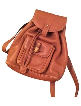 Tan Lambskin Leather Backpack by Gucci