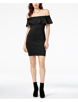 Off The Shoulder Bodycon Dress by Guess