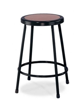 "National Public Seating 24"" High Heavy Duty Steel Stool, Black by National Public Seating"