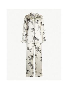 Zebedee Silk Satin Pyjama Set by Olivia Von Halle
