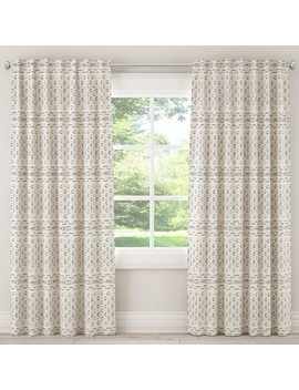 Skyline African Mud Cloth Unlined Curtain In Bishal Cream by Skyline Furniture