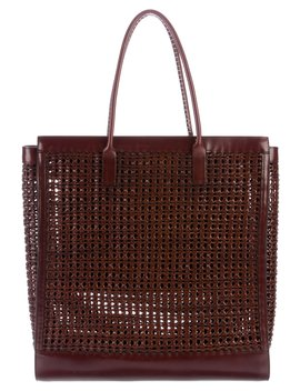 Large Woven Leather Tote by Burberry Prorsum