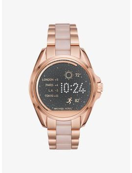 Bradshaw Rose Gold Tone And Acetate Smartwatch by Michael Kors