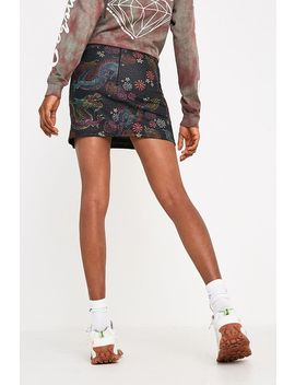 Urban Renewal Remnants Glitter Dragon Print Super Mini Skirt by Urban Renewal