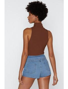 We Fold Denim Shorts by Nasty Gal