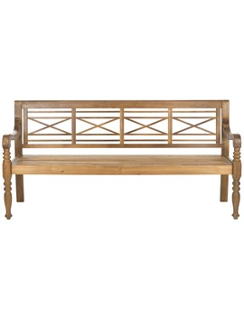 Safavieh Karoo 70.1 In W X 23 In L Natural Patio Bench by Lowe's